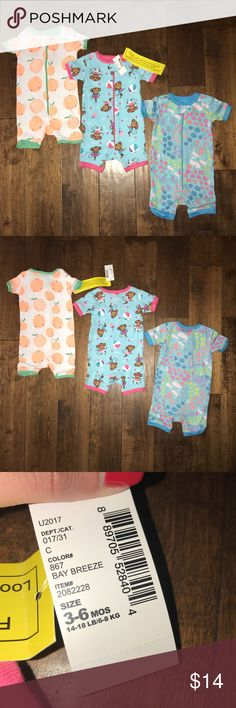 9c8c2a5243fe3 Bundle of 3 The Children s Place Stretchie Suits 3 pj or play suits. All are