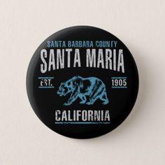 Santa Maria Button - vintage gifts retro ideas cyo