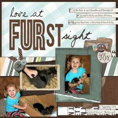 Love at FURst Sight Fluffy & Fido Digital #Scrapbooking Layout from Creative Memories    http://www.creativememories.com