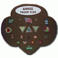 Thought this was a cool idea for the girls to make The hard thicker posterboard  covered in fabric would be cool.    The Trefoil Bauble® Board makes a great display board for Girl Scout lapel pins, patches or just about anything else you can think of.