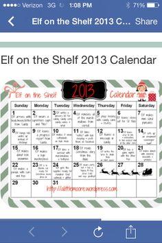 Elf on the shelf Ideas -@Amanda Scott  and @Heather Scott Oleniacz