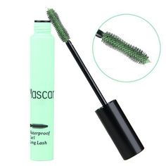 SODIAL(R) Green Mascara Long Lengthening Volume Curl Eyelash Grower Makeup Cosplay. Brand new and high quality. This unique lash wand features two ends for creating ultra defined, curly volume lashed. Increase sharply and long, it makes you more charming. Easy to draw a delicate thin line. Stays neat and fresh all day. No smudging or flaking.