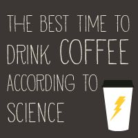 "The best time to drink coffee according to science. Apparently, ""all the time"" is NOT the answer..."