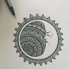 31 of the Prettiest Mandala Tattoos on Pinterest | Crescent Moon Slumber
