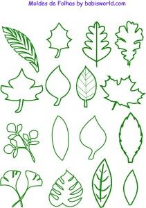 moldes de folhas  em formato pdf