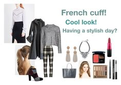 """""""For Scarlett (friend) - Scarlett's ideal wardrobe by me: #327: French cuff!"""" by sarah-m-smith ❤ liked on Polyvore featuring France Luxe, Nina Ricci, Prada, T By Alexander Wang, MaxMara, Roberto Festa, Lanvin, Humble Chic, Urban Decay and Christian Dior"""