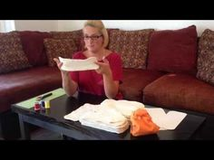 DIY Cloth Diaper Insert / Creating My Own gCloth - YouTube