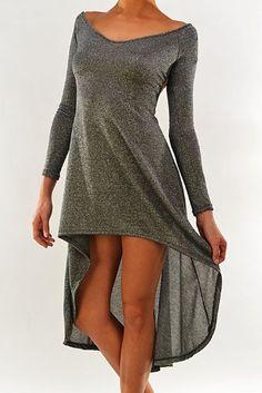 Grey Long Sleeve Scoop Neck High-low Glitter Dress, http://www.amazon.com/dp/B00B8W7VBA/ref=cm_sw_r_pi_awd_ooVrsb0PK9ERA