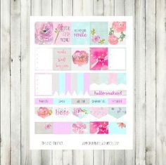 Free Printable Watercolor Flowers Planner Stickers