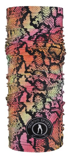 Grab Tikiboo's Exotic Snake Tikitube And Make Every Day A Good Hair Day. This Beautiful Reptile Print Features A Palette Of Pinks, Oranges And Yellows With Black Scale Detail, Matching Our Gorgeous Activewear. Good Hair Day, Neck Warmer, Mornings, Activewear, Snake, Cool Hairstyles, Exotic, Scarves, Palette
