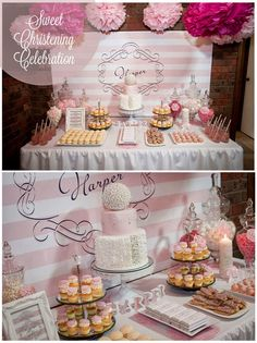 Green Beansie Ink: Sweet Christening Celebration  Girl baptism or christening party Backdrop and small sign Lillian Kate Wedding Designs Cake and cake pops - Just Call Me Martha Cupcakes - The Cupcake Emporium Candle - Love Memento Macarons - Jahdomes Bakery Cafe Chocolate bars - Invitations to Impress Photography by 3rd eye photography