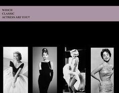 The Classic Actress Quiz I got Elizabeth Taylor.