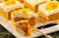 Morotskaka i långpanna Food Cakes, Carrots, Cake Recipes, Cheesecake, Food And Drink, Desserts, Muffins, Cakes, Dump Cake Recipes