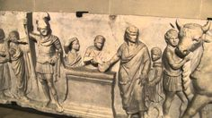 The Most Ancient Roman Sculptural Relief -Domitius Ahenobarbus- Louvre
