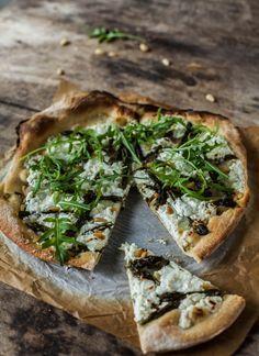#Pizza blanche aux #asperges vertes