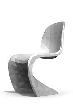 Pixelated Verner Panton Chair   United Nude