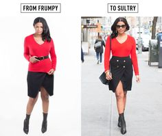 Yeah - that advice about belting sweaters - total garbage.... lies for the busty but not tall gall - 10 Easy Ways to Look Instantly Less Frumpy