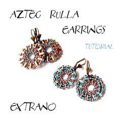 TUTORIAL  earrings  AZTEC RULLA  immediate download by Extrano, $4.00