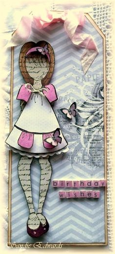 prima mixed media dolls | Delightfully Crazy: Mixed Media Doll Stamp Tags and Cards - The ...
