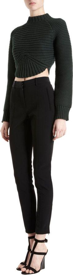 Alexander Wang Rib Knit Cropped Sweater