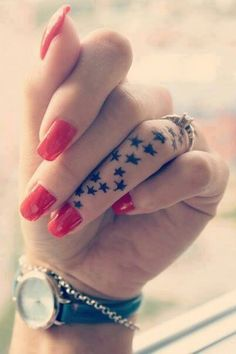 Super cute. It would also be cute if it was hearts and on the same finger where your wedding ring goes.