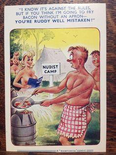 Saucy Bamforth Postcard - Comic Series No. Adult Cartoons, Sexy Cartoons, Adult Humor, Funny Postcards, Vintage Postcards, Vintage Ads, Funny Cartoon Pictures, Funny Photos, Funny As Hell