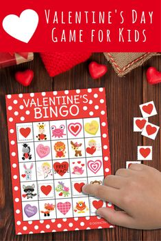 Great Valentine's Day Game for School Parties or Home.  Reusable. #valentinesbingo #classroombingo #valentinesparty