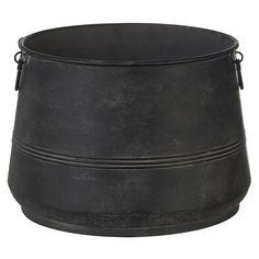 Zwart metalen decoratieve pot. Doorsnee 40 cm. #kwantum_woonahaves_pot #kwantum #kwantum_nederland #woonahaves #daarwoonjebetervan