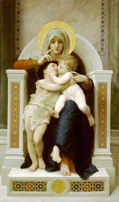 The Virgin, The Baby Jesus, And Saint John The Baptist by William-Adolphe Bouguereau
