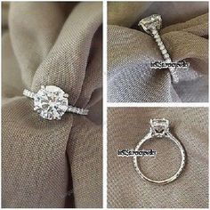 Women's 2.00 Ct Round Cut Solitaire Engagement Wedding Ring White Gold Finish