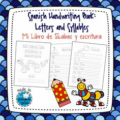Printable handwriting practice booklet for new learners of Spanish letters and syllables. Perfect for Dual Language or Bilingual classrooms!