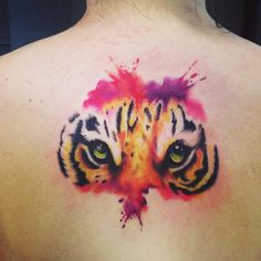 40 Gorgeous Tiger Tattoo Meanings & Design For Men and Women loving watercolors!
