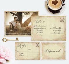 Elopement Wedding Invitation Set  Reception Photo by VGInvites