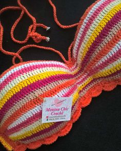 Crochet Bra, Crochet Bikini Pattern, Crochet Bikini Top, Crochet Cross, Crochet Woman, Love Crochet, Crochet Clothes, Crochet Stitches, Crochet Patterns