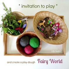 Invitation to Create a Play Dough Fairy World