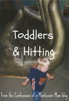 Toddlers & Hitting from {Confessions of a Montessori Mom blog}. How do you handle your toddler's hitting?