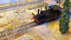 """Locomotora de vapor 030-0221 Gran Central Español, """"L. Aguirre"""". Escala H0."""