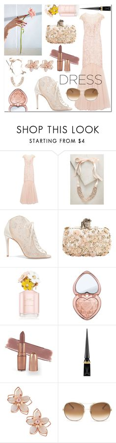"""Dreamy Dresses: Flower Girl"" by misspasadena ❤ liked on Polyvore featuring Notte by Marchesa, Jennifer Behr, Jimmy Choo, Alexander McQueen, Marc Jacobs, Too Faced Cosmetics, Christian Louboutin, NAKAMOL and Chloé"