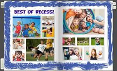 Recess is every elementary school student's favorite period, and it is a great thing to capture in a yearbook designed for the younger kids. Cool Yearbook Ideas, Elementary Yearbook Ideas, Yearbook Staff, Yearbook Pages, Yearbook Spreads, Yearbook Covers, Elementary Schools, Yearbook Theme, Yearbook Design Layout