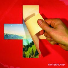 Travel poster for Switzerland. Travel Ads, Travel Europe, Swiss Flag, Alpine Style, Poster City, Tourism Poster, Auction Projects, Swiss Design, City Maps