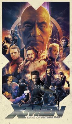 X-Men: Days of Future Past /// I almost bought a set of men's aftershave just to get this (or a similar) poster that came with it. xDD