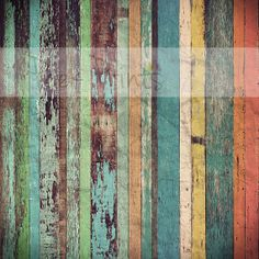 5ft x5ft Vintage Multicolor Painted Planks Wood by PeekPrints, $36.99