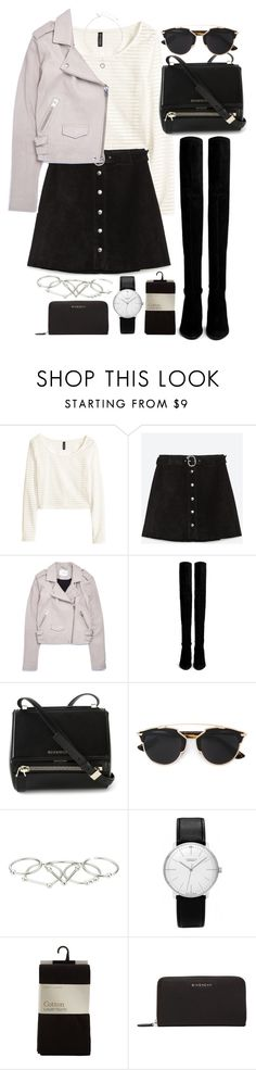 """""""Sin título #1061"""" by osnapitzvic ❤ liked on Polyvore featuring H&M, Zara, OTTE, Stuart Weitzman, Givenchy, Christian Dior, Zimmermann, Junghans and Topshop"""