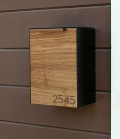 Nice Modern Mailbox Walnut Wall Mounted Mailbox Narrow Door CeCeWorks
