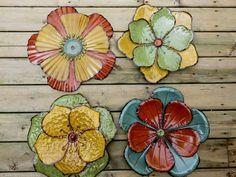 "free shipping!! 4 METAL FLOWERS WALL ART DECOR MODERN RETRO HOME DECOR 18.25X17.75X1"" outdoor  #Modern"