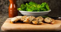 Juicy, tender garlic chicken breast that are super easy to make and can be cooked on the grill on under the broiler.