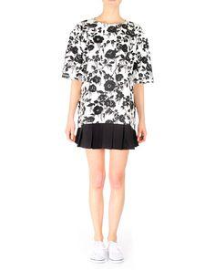 Hyper-Cool Sweater Dress with Stretch Twill Pleats by Karen Walker, black and white dress Karen Walker, Cool Sweaters, White Dress, Black And White, Cool Stuff, Blouse, Long Sleeve, Sleeves, Summer