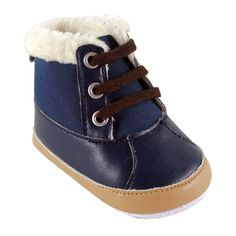 Luvable Friends Baby Faux Suede Winter Boots, Blue, 12-18 Months Luvable Friends. Your baby boy in style! Fashionably dressed!