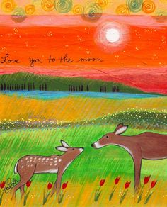 Print : Love You to the Moon. $25.00, via Etsy.