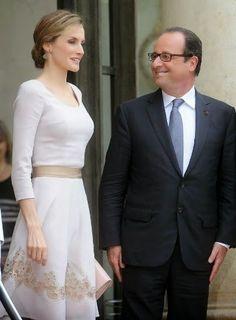 http://www.fashionassistance.net/2014/07/dna-letizia-llevo-la-moda-espanola.html Fashion Assistance: Dña. Letizia llevó la moda española a París con un reconocible Varela